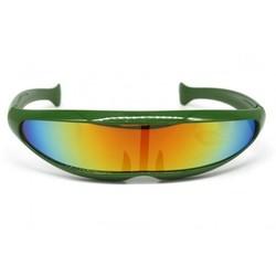 Snelle Planga Zonnebril Groen Rainbow