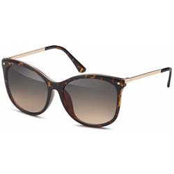 Glamour zonnebril demi bruin