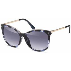 Glamour zonnebril zwart blauw