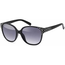 Dames Zwarte Zonnebril met Strass Steentjes