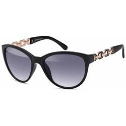 Zwarte dames zonnebril met Goudkleurige Schakels