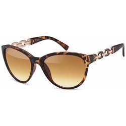 Bruine leopard dames zonnebril met Goudkleurige Schakels