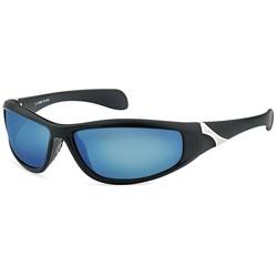 Zwarte Sportbril met Olie Spiegelglazen