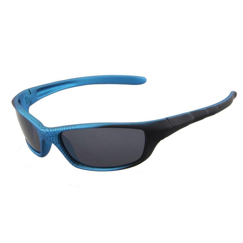 Stoere Kinderzonnebril Blauw