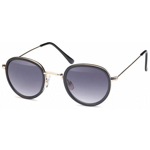 Ronde fashion zonnebril zwart