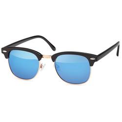 Blauwe clubmaster zonnebril