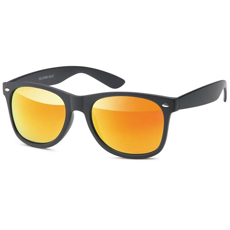 The Wayfarer Black Orange Zonnebril