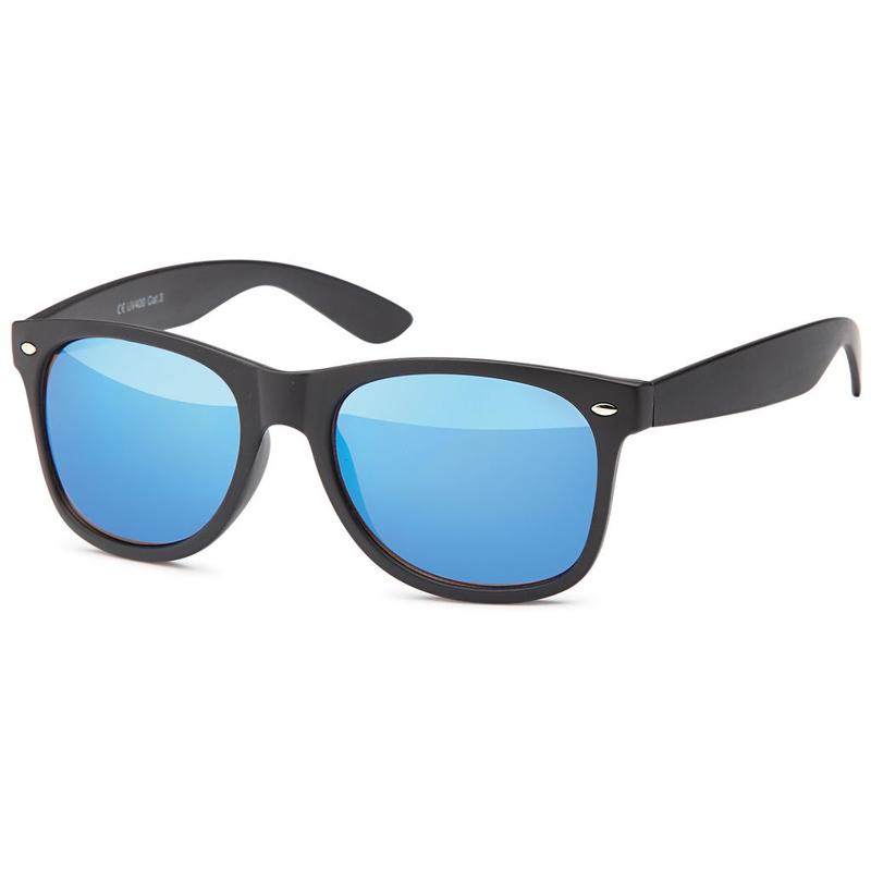 matzwarte wayfarer zonnebril blue