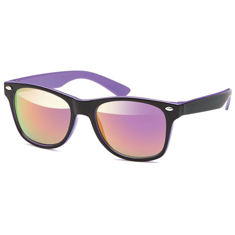 Kids Wayfarer Black Purple Zonnebril