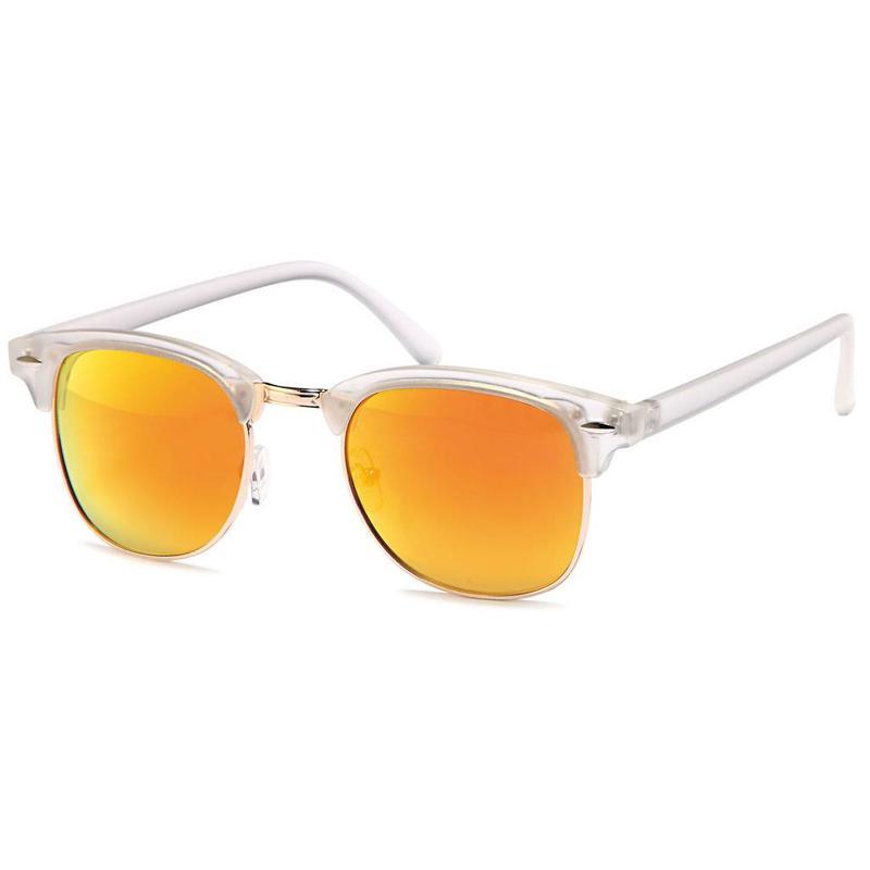 Transparante oranje clubmaster