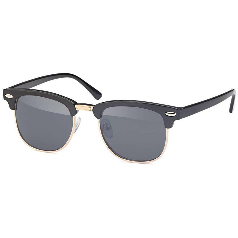 Zwarte junior clubmaster zonnebril