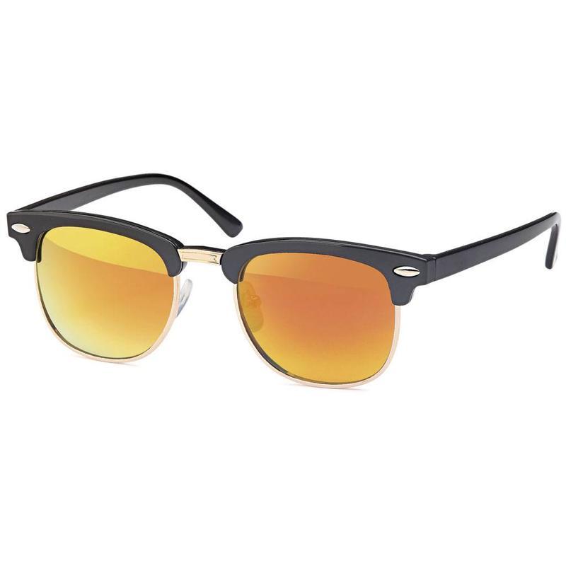 Oranje junior clubmaster zonnebril