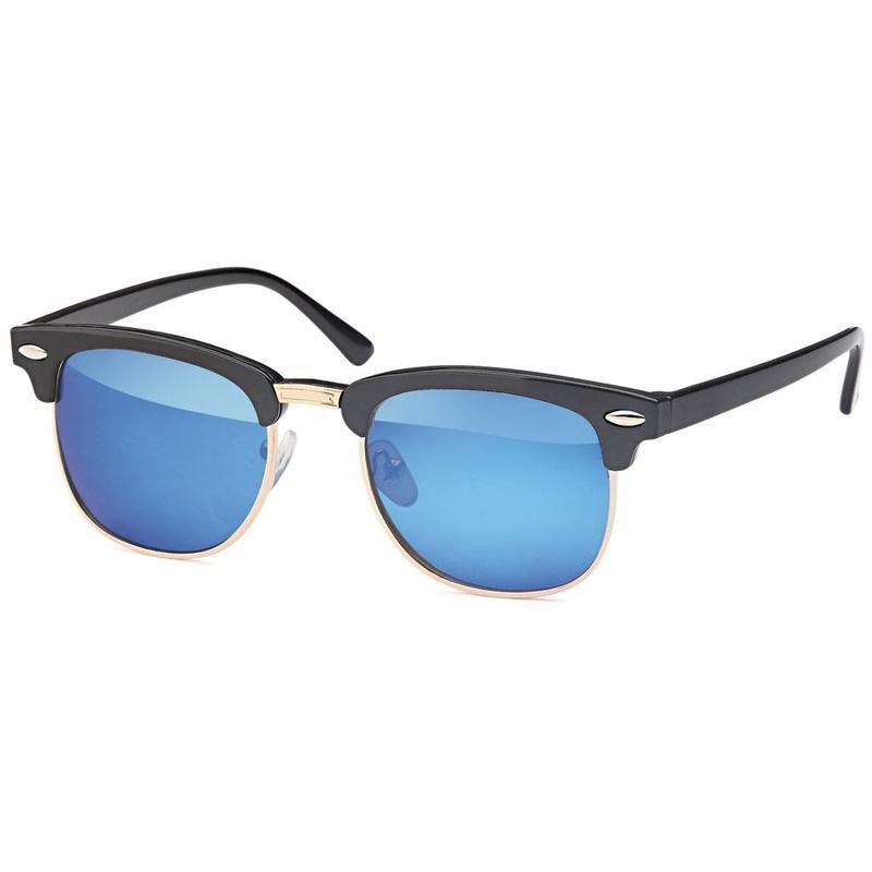 Blauwe junior clubmaster zonnebril