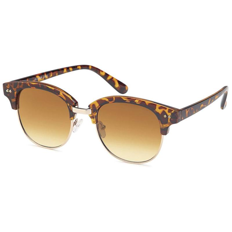 Luxe leopard clubmaster zonnebril