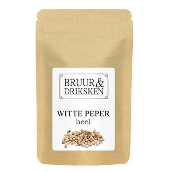 Bruur witte peper (peperkorrels)