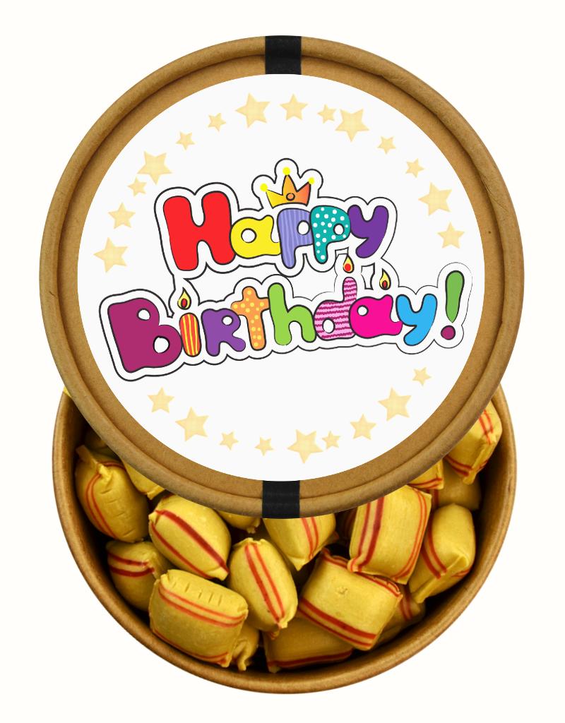 Happy Birthday beker met snoepjes naar keuze Nr2