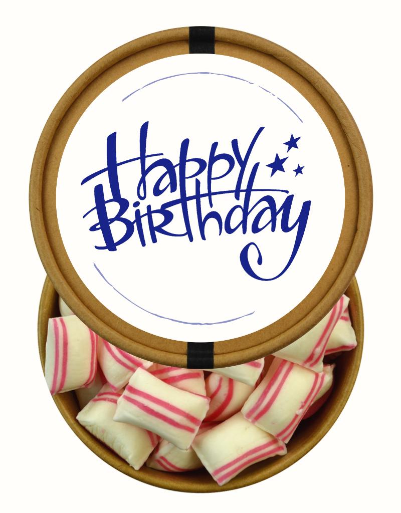Happy Birthday beker met snoepjes naar keuze Nr3