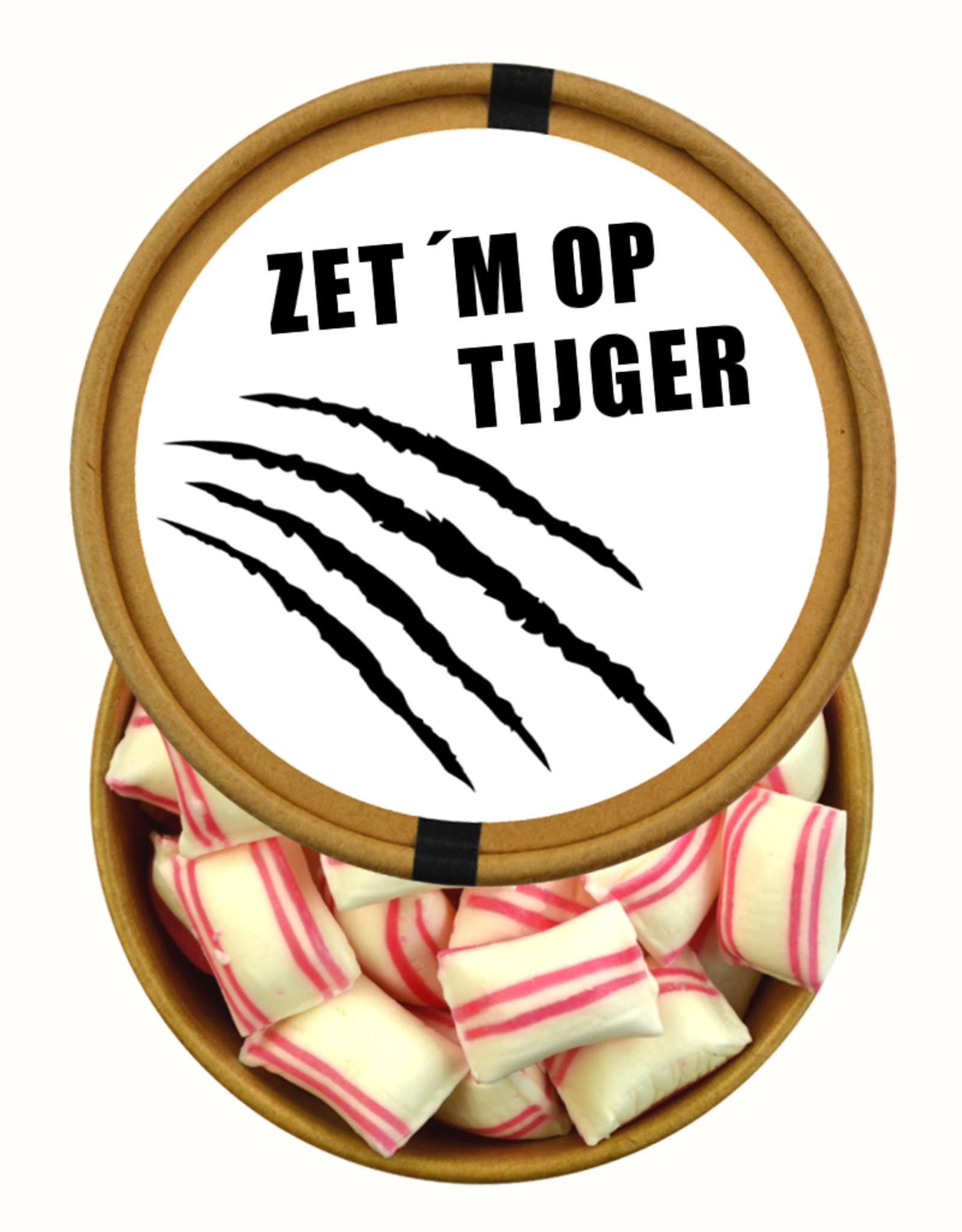 Zet 'm Op Tijger - beker met snoepjes