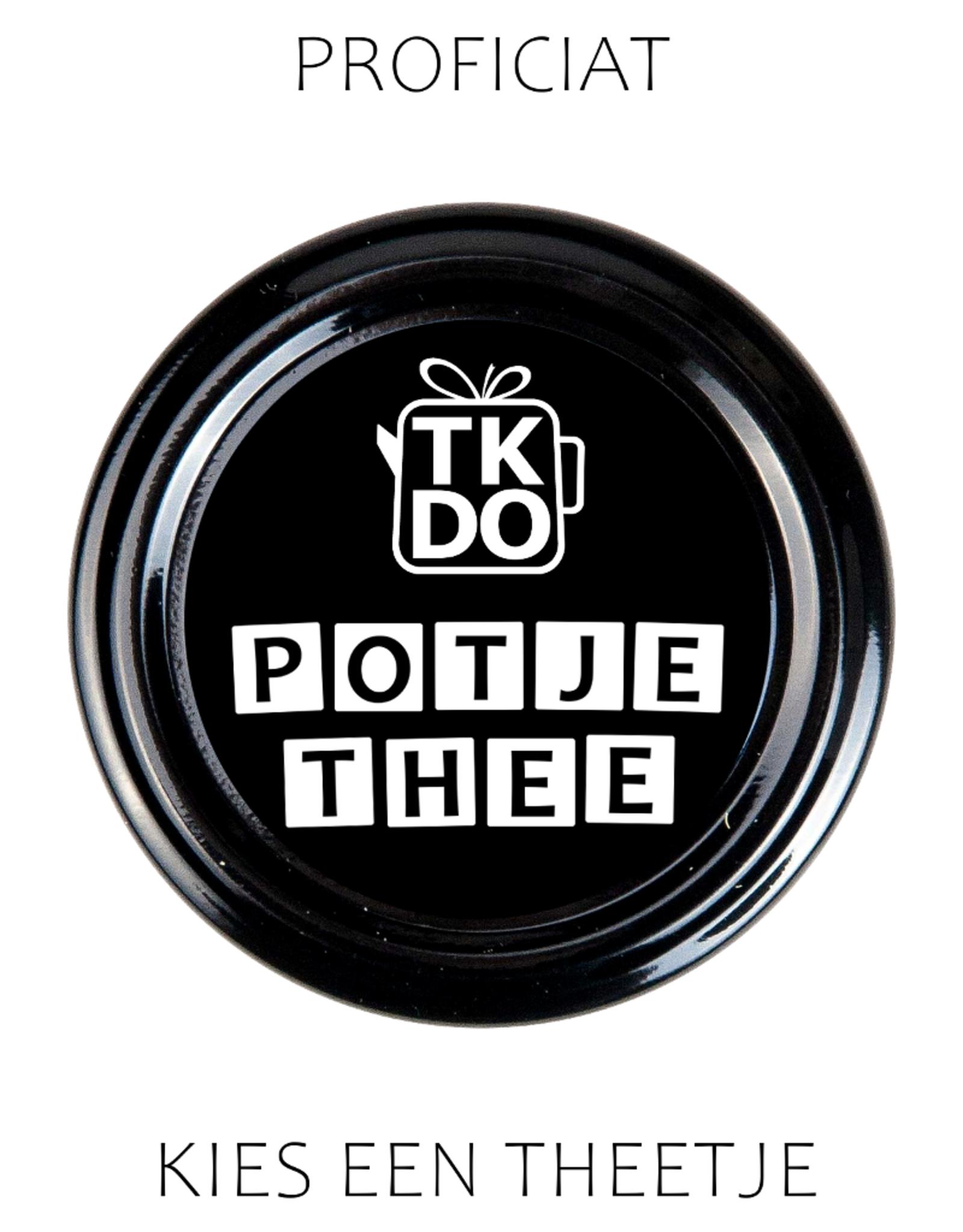 Proficiat - Potje Thee naar keuze van TKDO