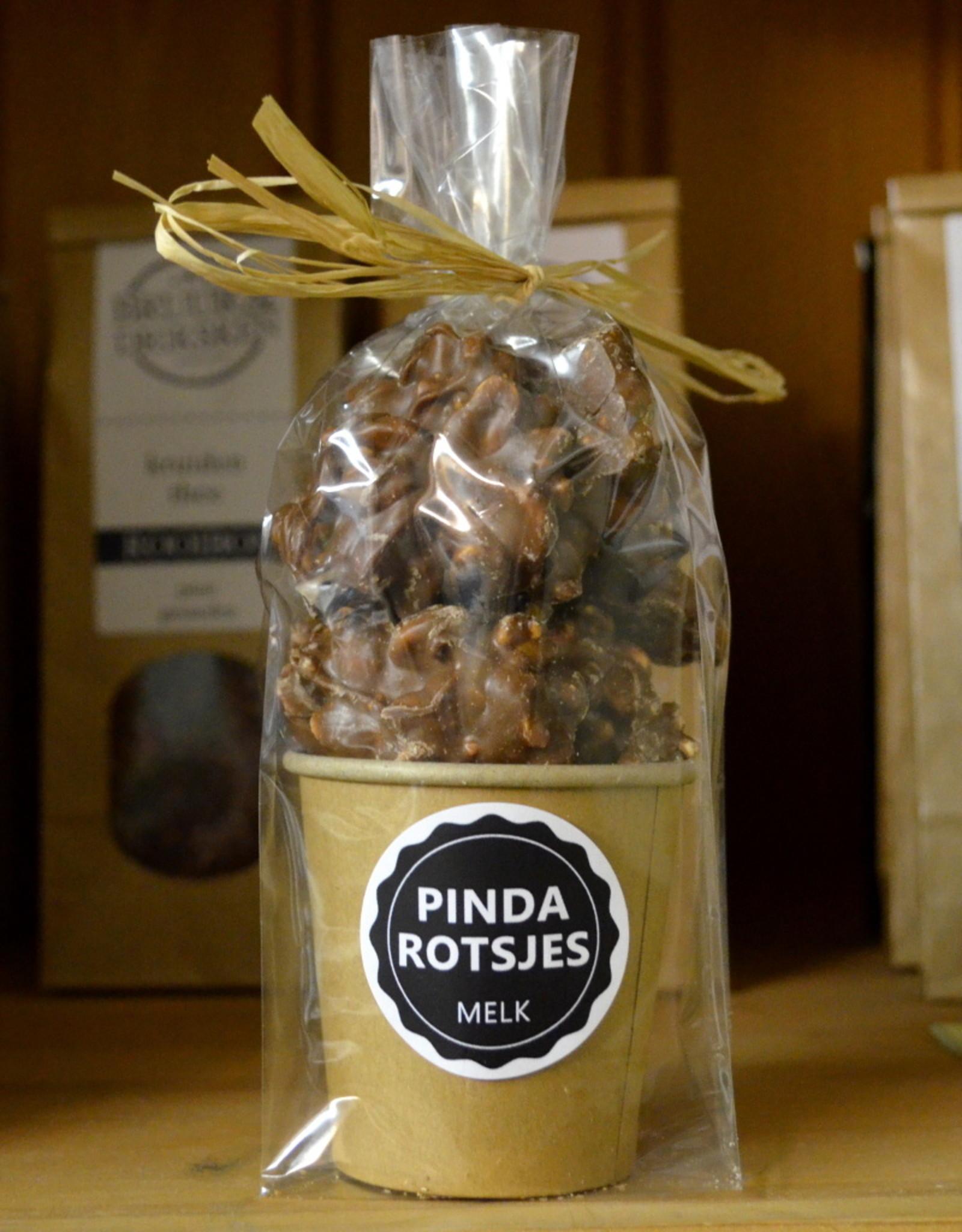 Pinda Rotsjes ambachtelijk met melk chocolade