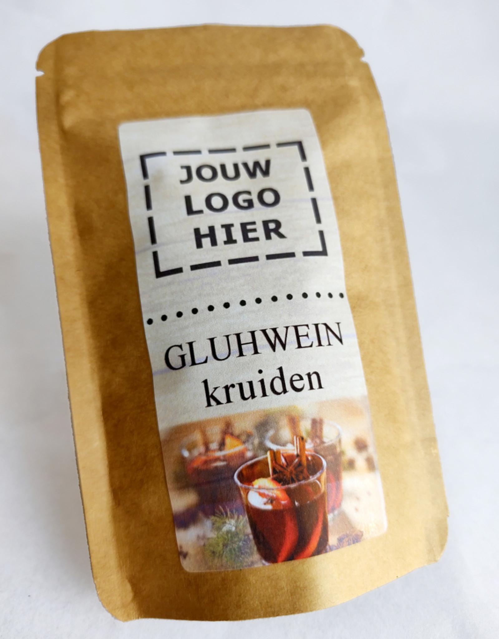 Jouw eigen logo op een zakje gluhweinkruiden