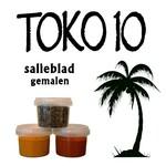 Toko10 salie blad (gemalen)