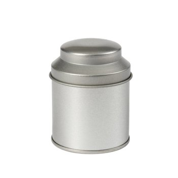 Thee caddy zilver 53 x 70 mm