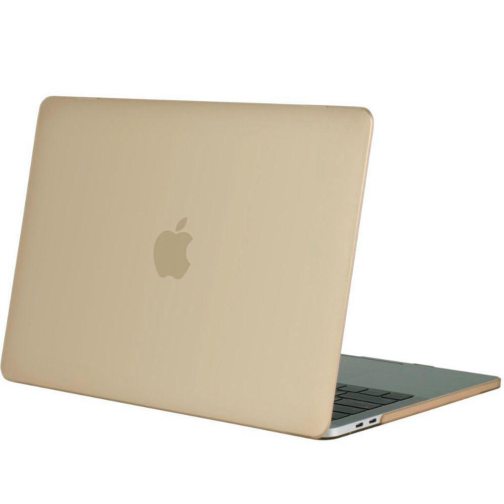 huge discount 44d12 92c66 Hardshell Rubber Cover Case Matt Apple MacBook Pro 13 inch (2016) Gold