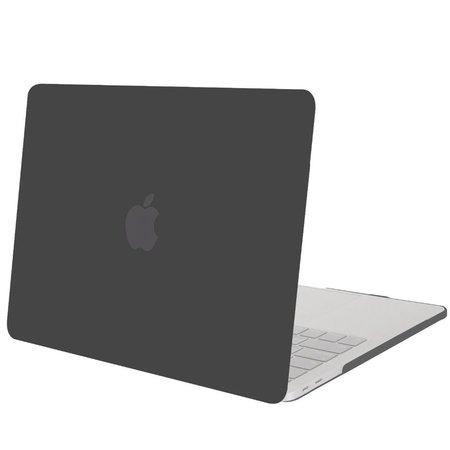 Geeek Hardgummiabdeckungs-Fall Matte MacBook Pro 15-Zoll (2016) Schwarz