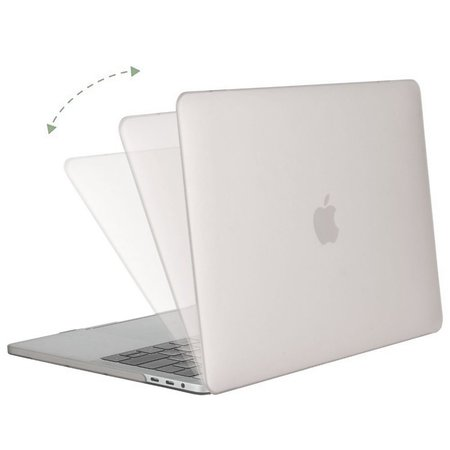 Geeek Hardgummiabdeckungs-Fall Matte MacBook Pro 15-Zoll (2016) Silber