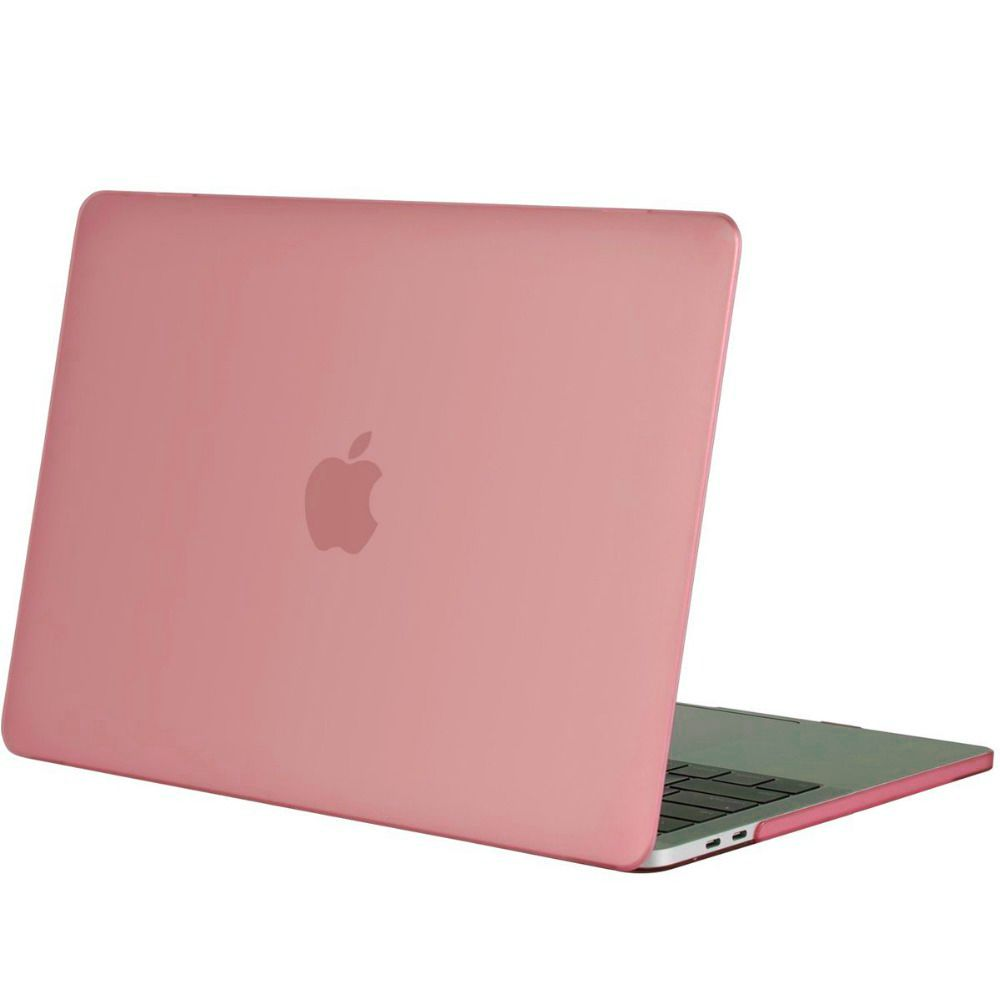los angeles d8946 55d70 Geeek Hardshell Rubber Cover Case Matte MacBook Pro 15-inch (2016) Pink