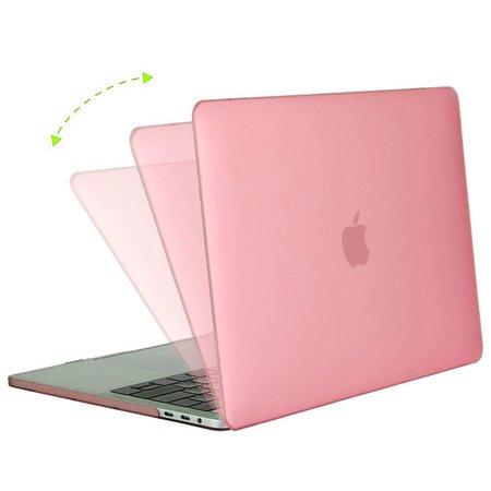 Geeek Hardshell Rubber Cover Case Mat MacBook Pro 15 inch (2016) Roze
