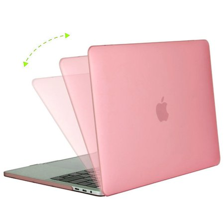 Geeek Hardshell Rubber Cover Case Matte MacBook Pro 15-inch (2016) Pink