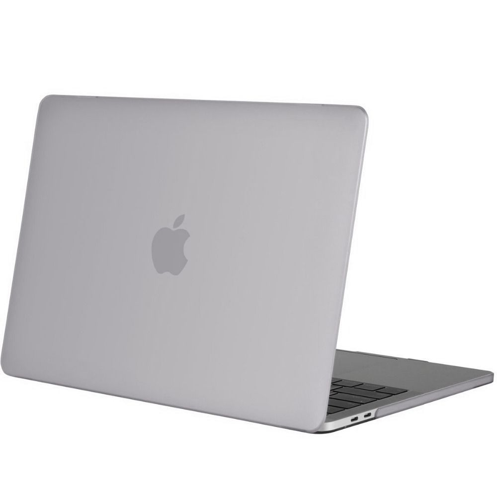 new product 71fb9 3b0e1 Geeek Hardshell Rubber Cover Case Matte MacBook Pro 15-inch (2016)  Transparent