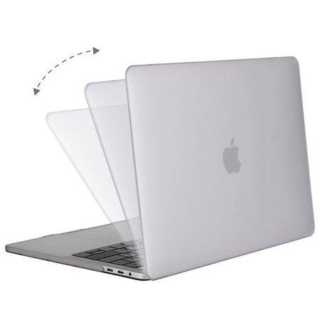 Geeek Hardgummiabdeckungs-Fall Matte MacBook Pro 15-Zoll (2016) Transparent