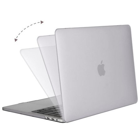 Geeek Hardshell Rubber Cover Case Matte MacBook Pro 15-inch (2016) Transparent