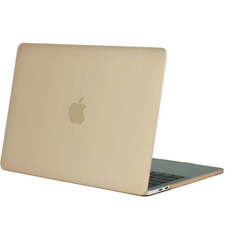Geeek Hardgummiabdeckungs-Fall Matte MacBook Pro 15-Zoll (2016) Gold