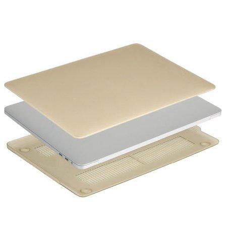 Geeek Hardshell Rubber Cover Case Matte MacBook Pro 15-inch (2016) Gold