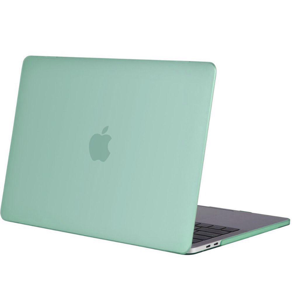 Hardshell Rubber Cover Case Mat MacBook Pro 15 inch (2016) Mintgroen
