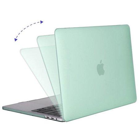 Geeek Hardshell Rubber Cover Case Mat MacBook Pro 15 inch (2016) Mintgroen