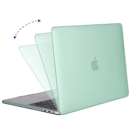 Geeek Hardshell Rubber Cover Case Matte MacBook Pro 15-inch (2016) Mintgroen
