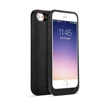 Ultradünnes 4500mAh Batterie-Kasten-Abdeckung für iPhone 7 / 8 Schwarz