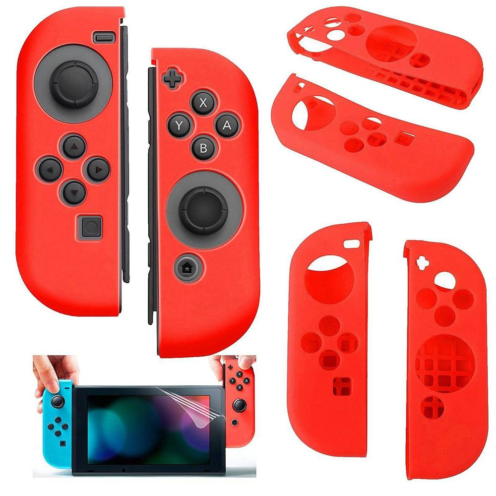 Silicone anti slip cover voor nintendo switch controller roodsilicone anti slip cover voor nintendo switch ...