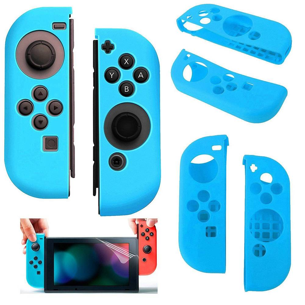 Silicone Anti Slip cover voor Nintendo Switch Controller Blauw