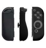 Geeek Silicone Anti Slip cover voor Nintendo Switch Controller Zwart