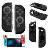 Geeek Silikon-Anti-Rutsch-Abdeckung für Nintendo Switch Controller Schwarz