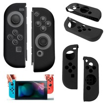 Silicone Anti Slip cover voor Nintendo Switch Controller Zwart