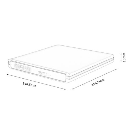 Geeek Design CD/DVD-RW Writer Externe CD DVD brander USB 3.0