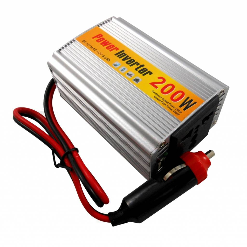 Auto Power Inverter Omvormer DC 12V naar AC 220V 50hz 200W