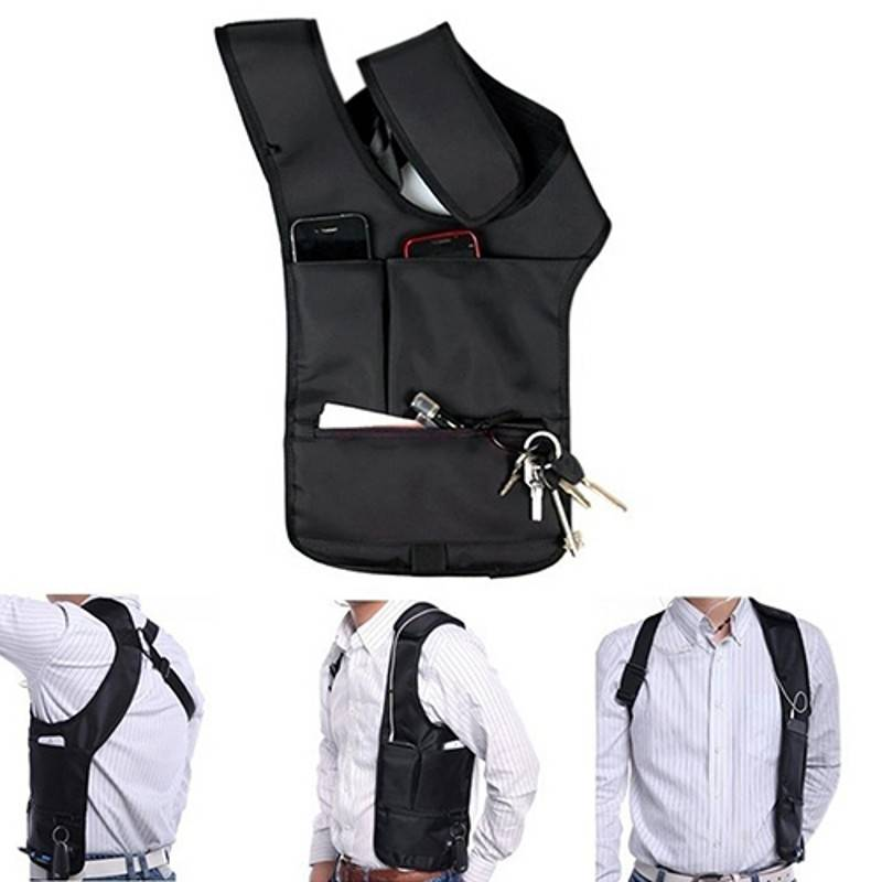 Een ontzettend handige en veilige manier om je belangrijke spullen veilig mee te nemen. met deze holster tas ...